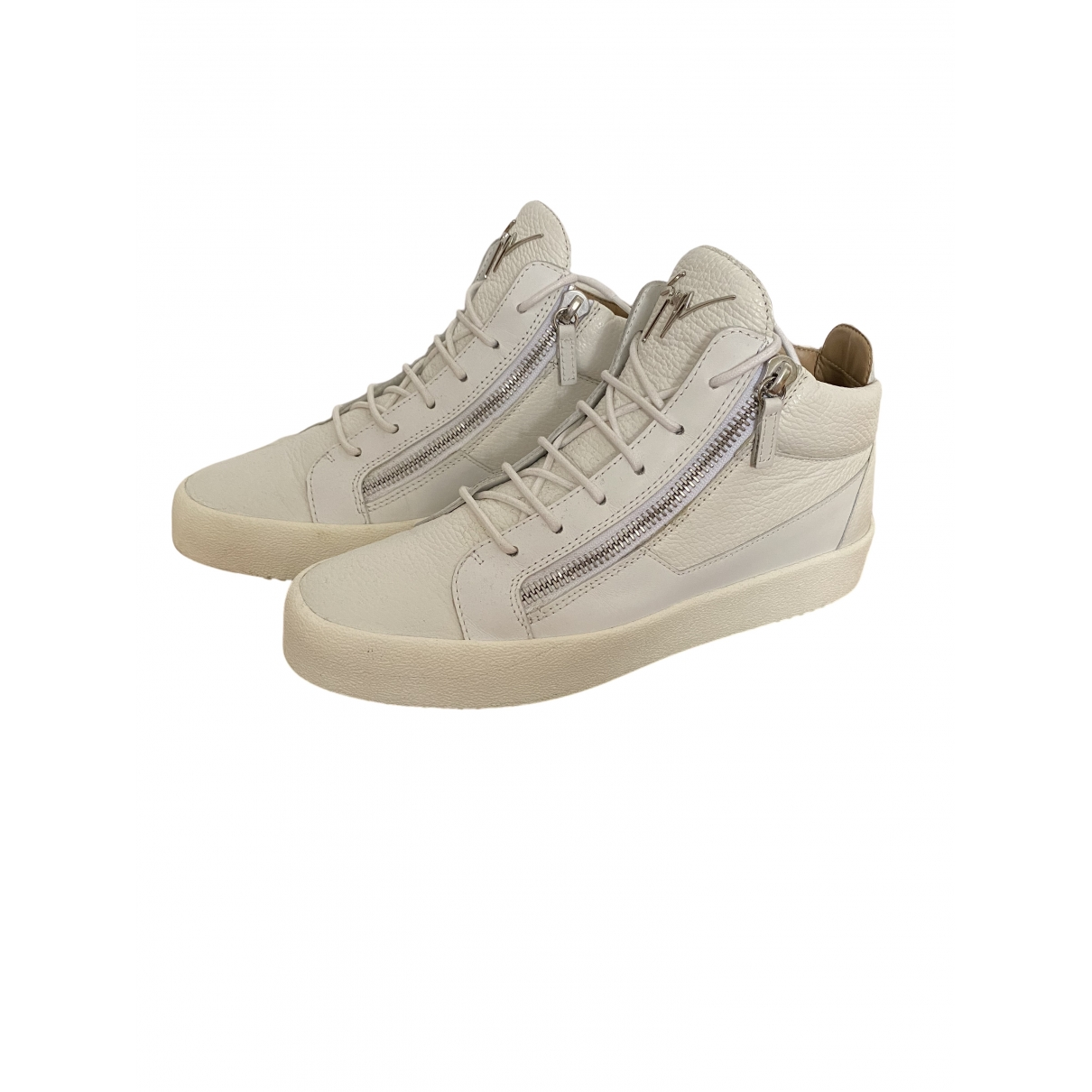 Giuseppe Zanotti \N White Leather Trainers for Men 43 IT