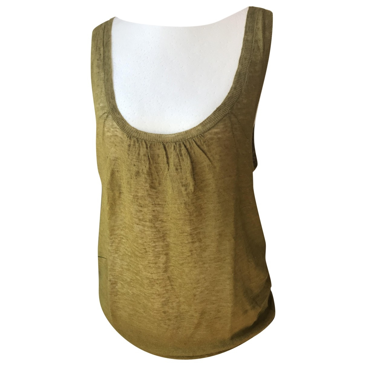 Iro \N Khaki Linen  top for Women 1 0-5