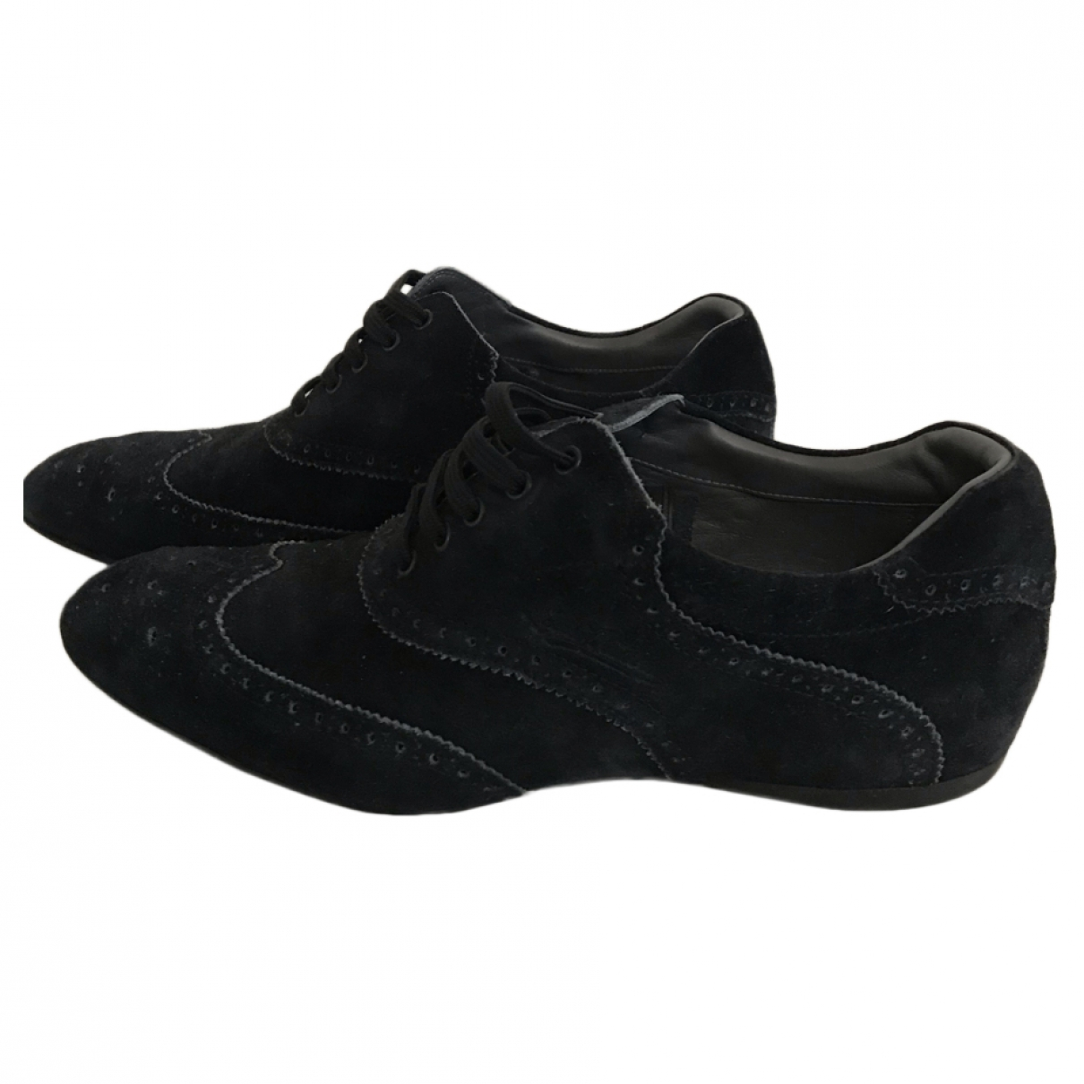Louis Vuitton - Derbies   pour homme en suede - anthracite
