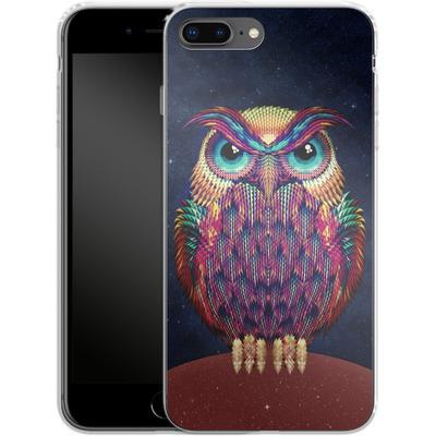 Apple iPhone 8 Plus Silikon Handyhuelle - Owl von Ali Gulec