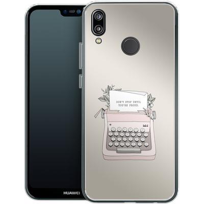 Huawei P20 Lite Silikon Handyhuelle - Dont Stop von Barlena