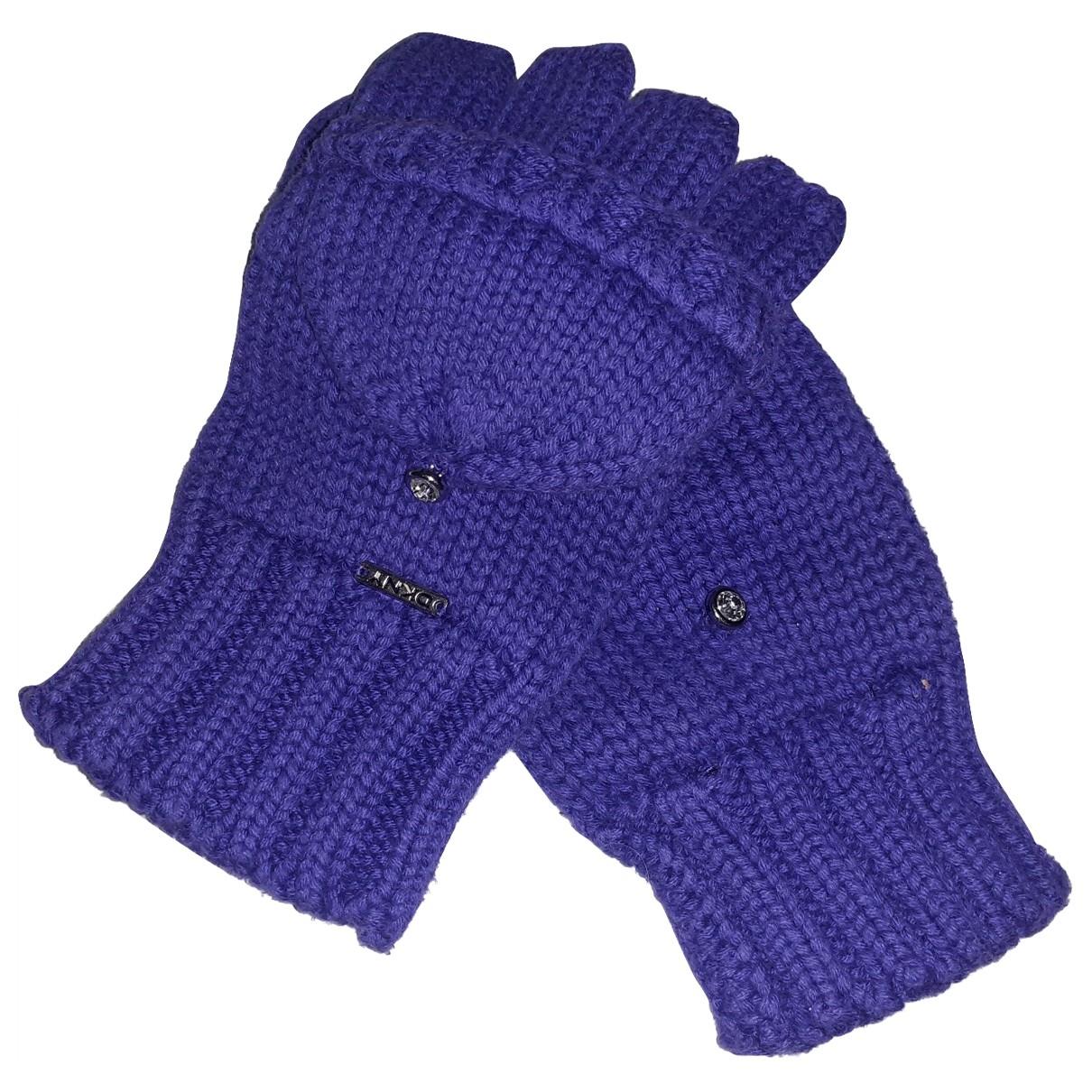 Dkny - Gants   pour femme en laine - violet