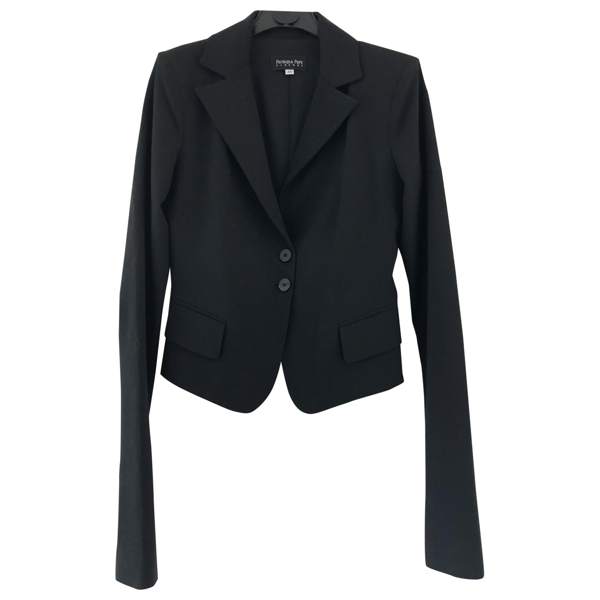 Patrizia Pepe - Veste   pour femme en laine - noir
