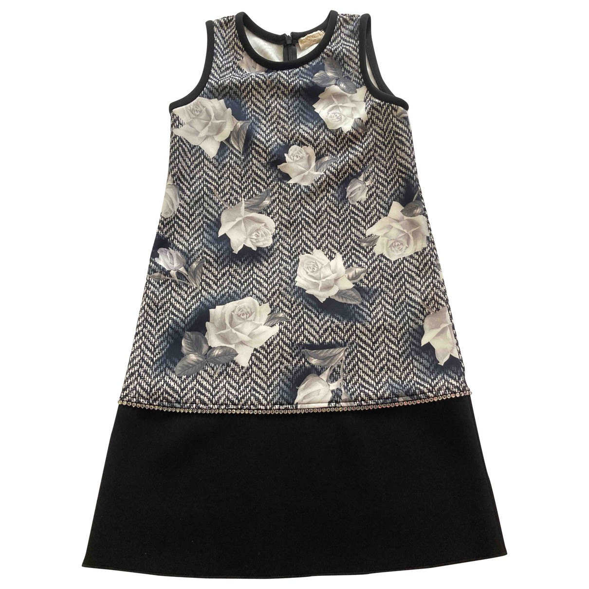 Monnalisa \N Kleid in  Grau Polyester