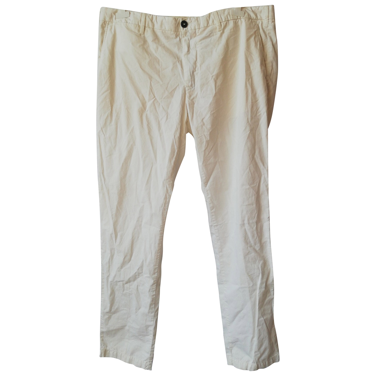 Henry Cotton \N White Cotton Trousers for Men 56 IT