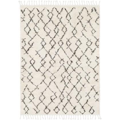 Berber Shag BBE-2301 9' x 12' Rectangle Global Rug in Charcoal