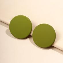 Round Design Stud Earrings