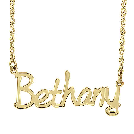 Personalized 30mm Name Necklace, One Size , Yellow