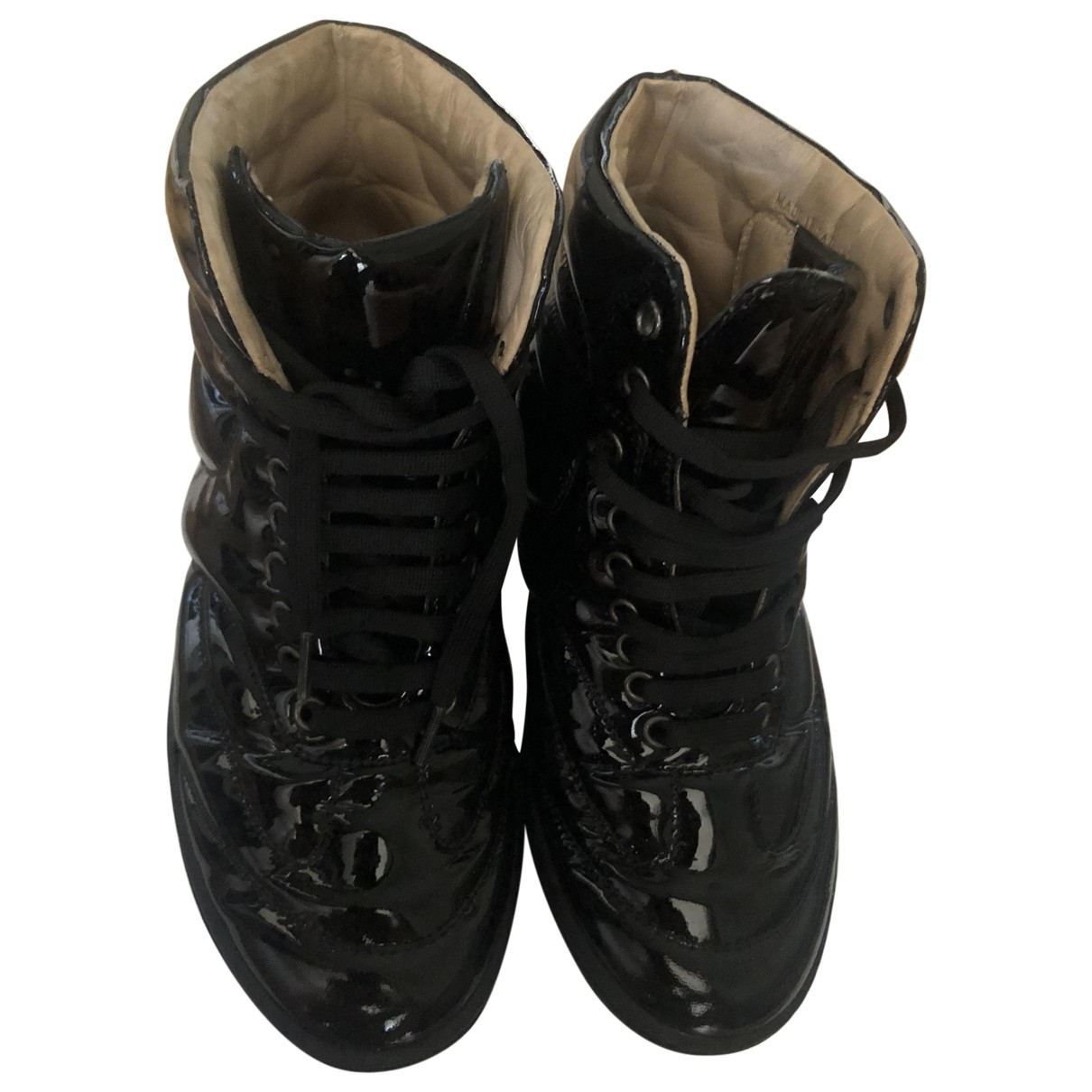 Mm6 \N Black Patent leather Boots for Women 36 EU