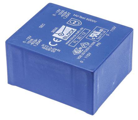 Block 12V ac 2 Output Through Hole PCB Transformer, 30VA