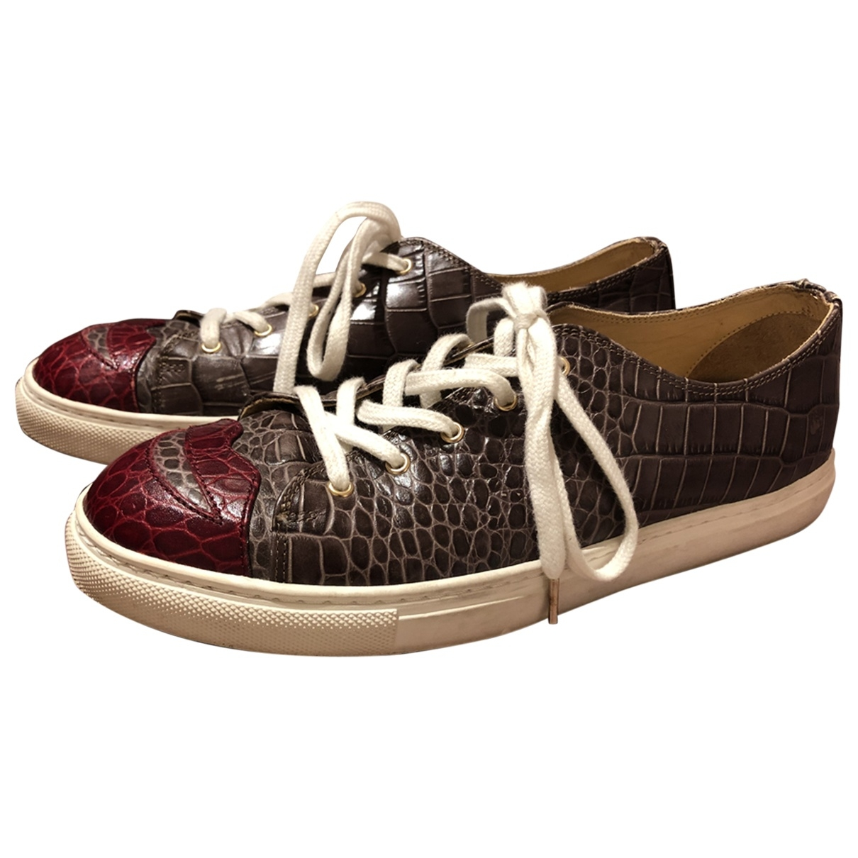 Charlotte Olympia \N Grey Leather Trainers for Women 39 EU