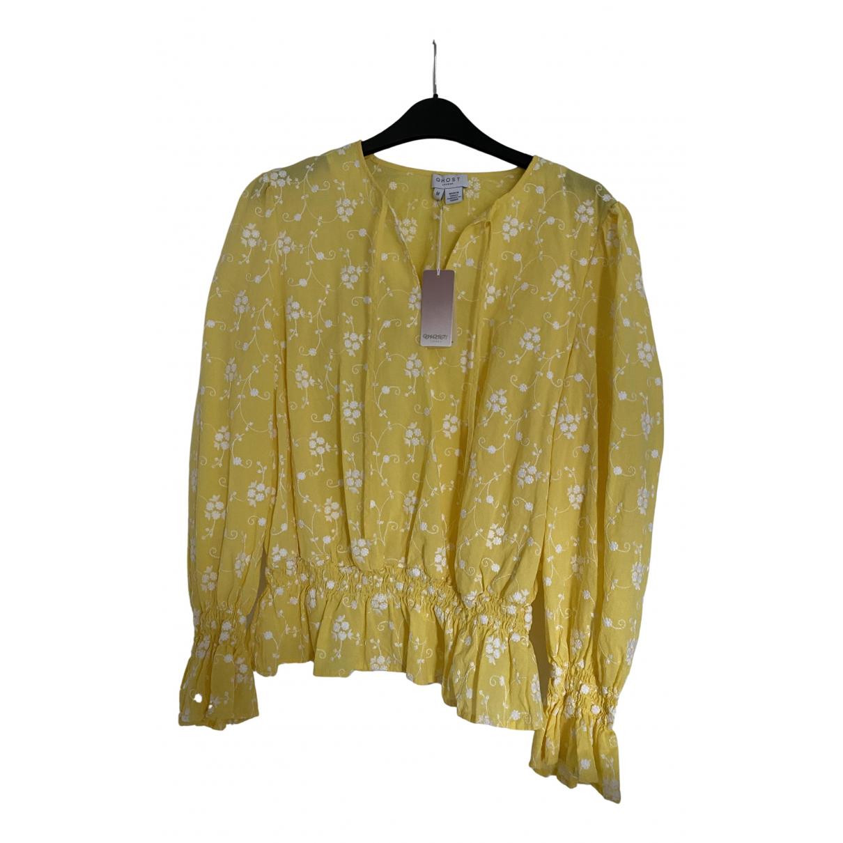Ghost London \N Top in  Gelb Baumwolle