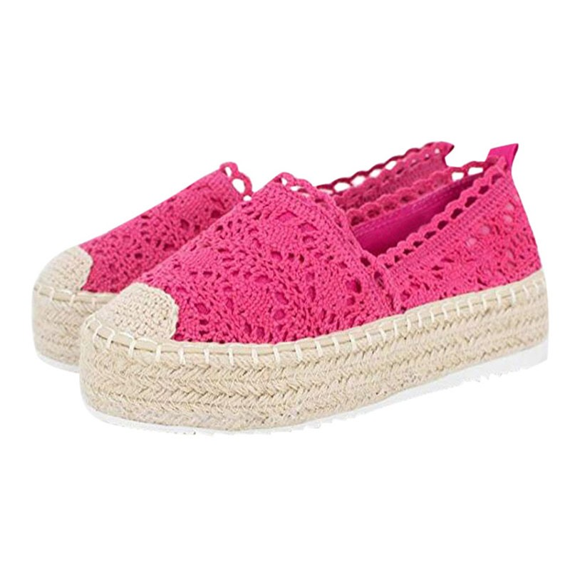 Ericdress Round Toe Slip-On Lace Patchwork Thin Shoes