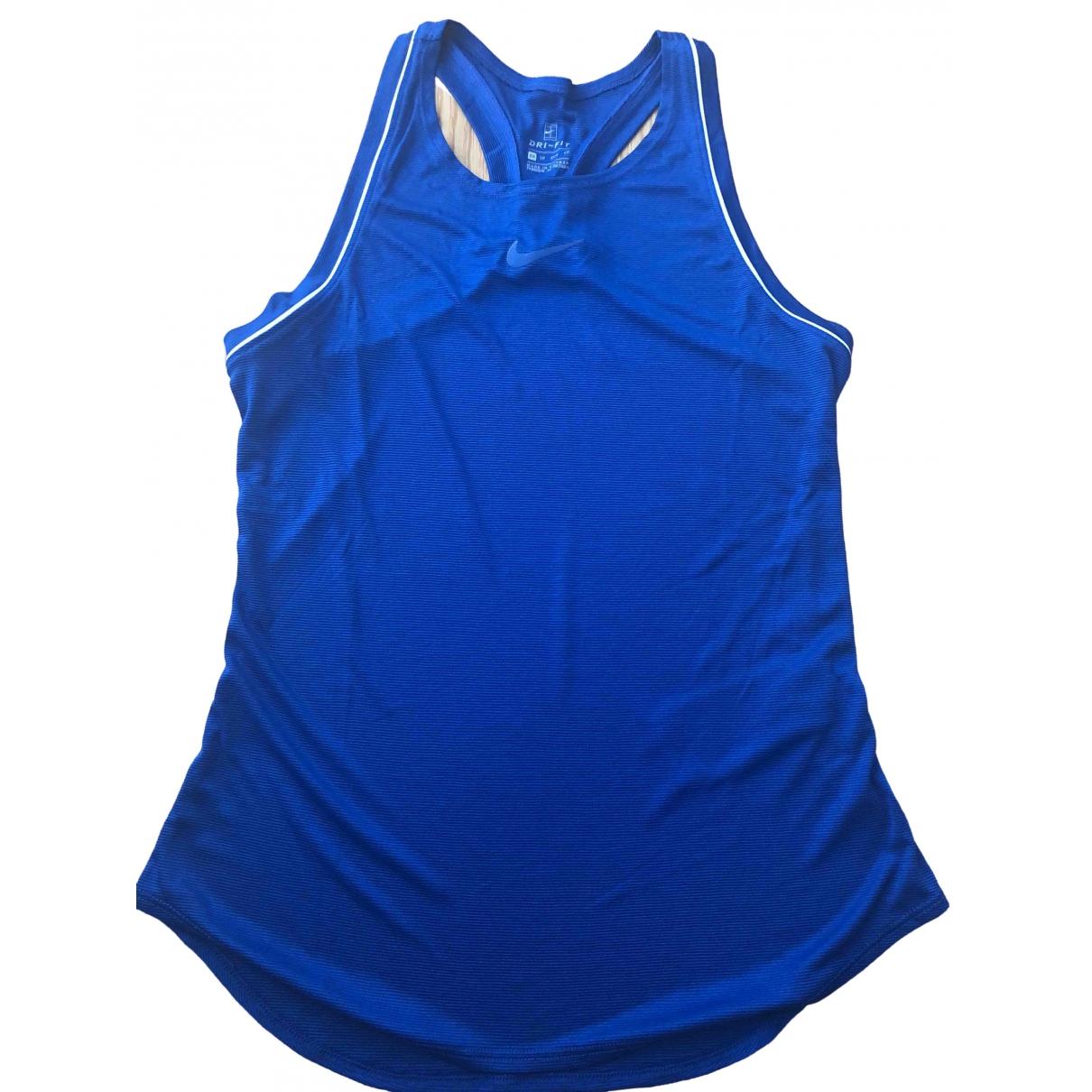Nike \N Top in  Blau Polyester