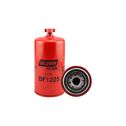 Baldwin BF1225 - Fuel/Water Separator Spin On With Drain Filter