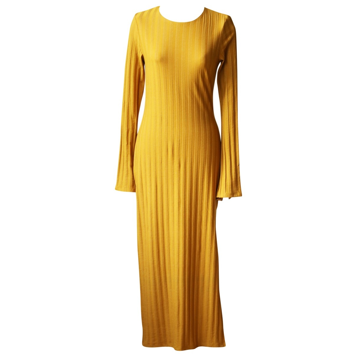 Reformation \N Kleid in  Gelb Synthetik