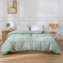 Einfarbiger Bettbezug ohne Fuellstoff
