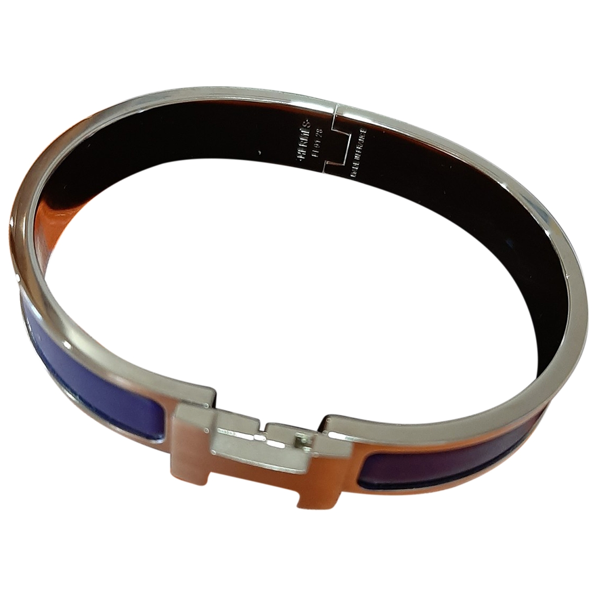 Hermes Clic H Armband in  Blau Stahl