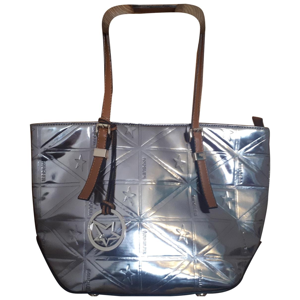 Mugler \N Handtasche in  Silber Polyester