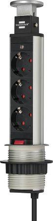 brennenstuhl 2m 3 Socket Type F - German Schuko Extension Lead, 250 V ac