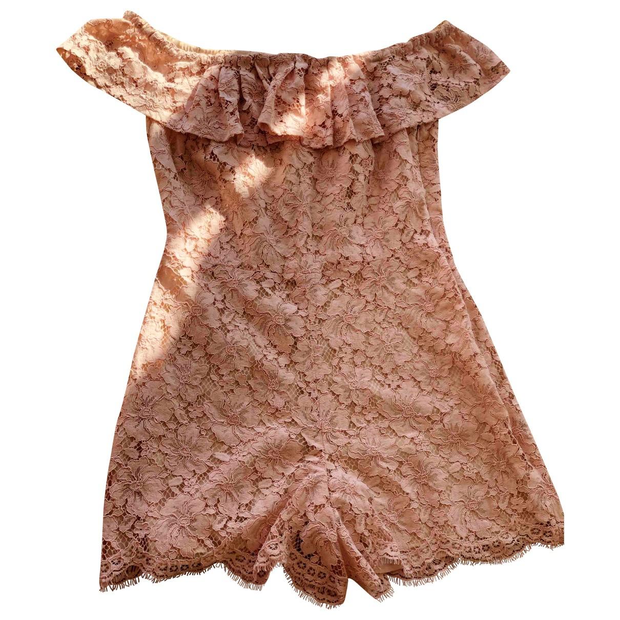 Sandro \N Pink Cotton jumpsuit for Women 40 FR
