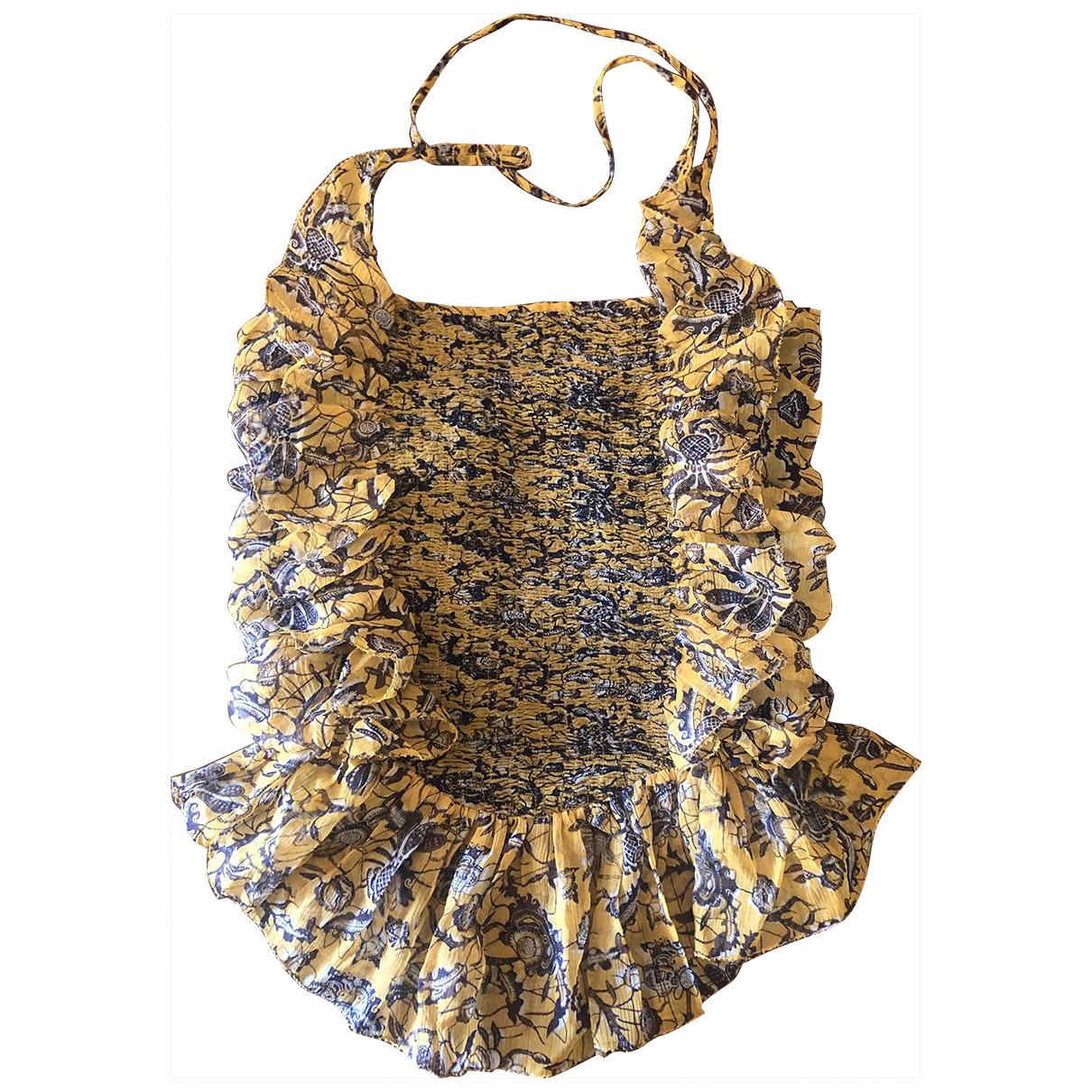 Isabel Marant Etoile \N Yellow Silk  top for Women 36 FR