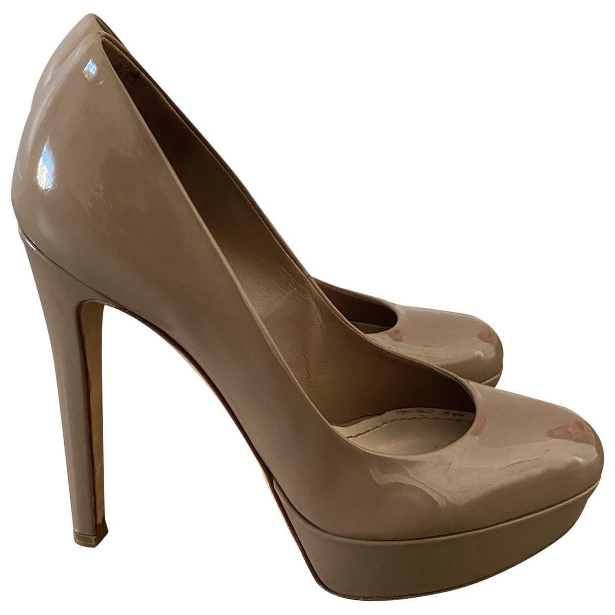 Christian Dior - Escarpins   pour femme en cuir verni - beige