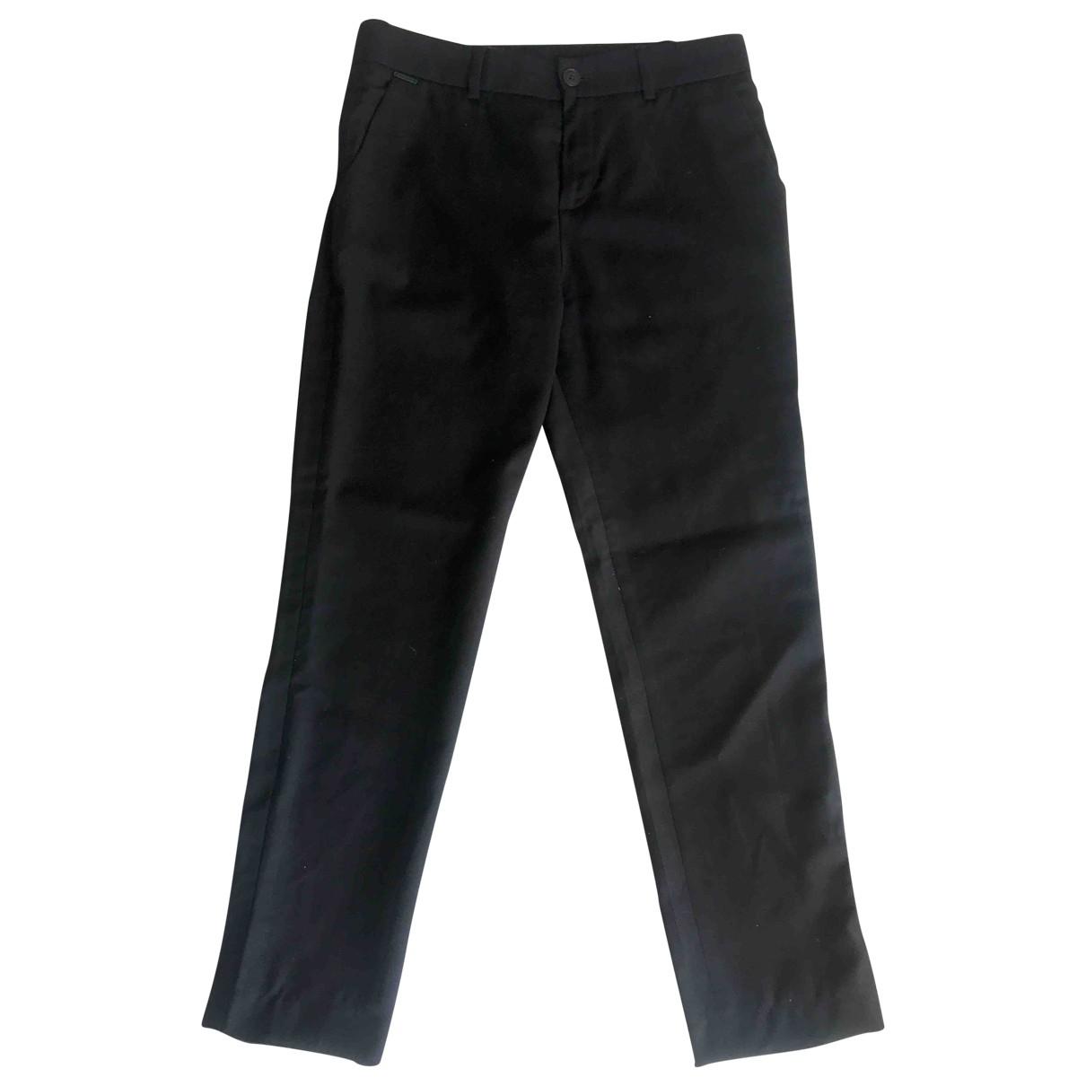 Gaultier Junior \N Black Wool Trousers for Kids 14 years - S FR