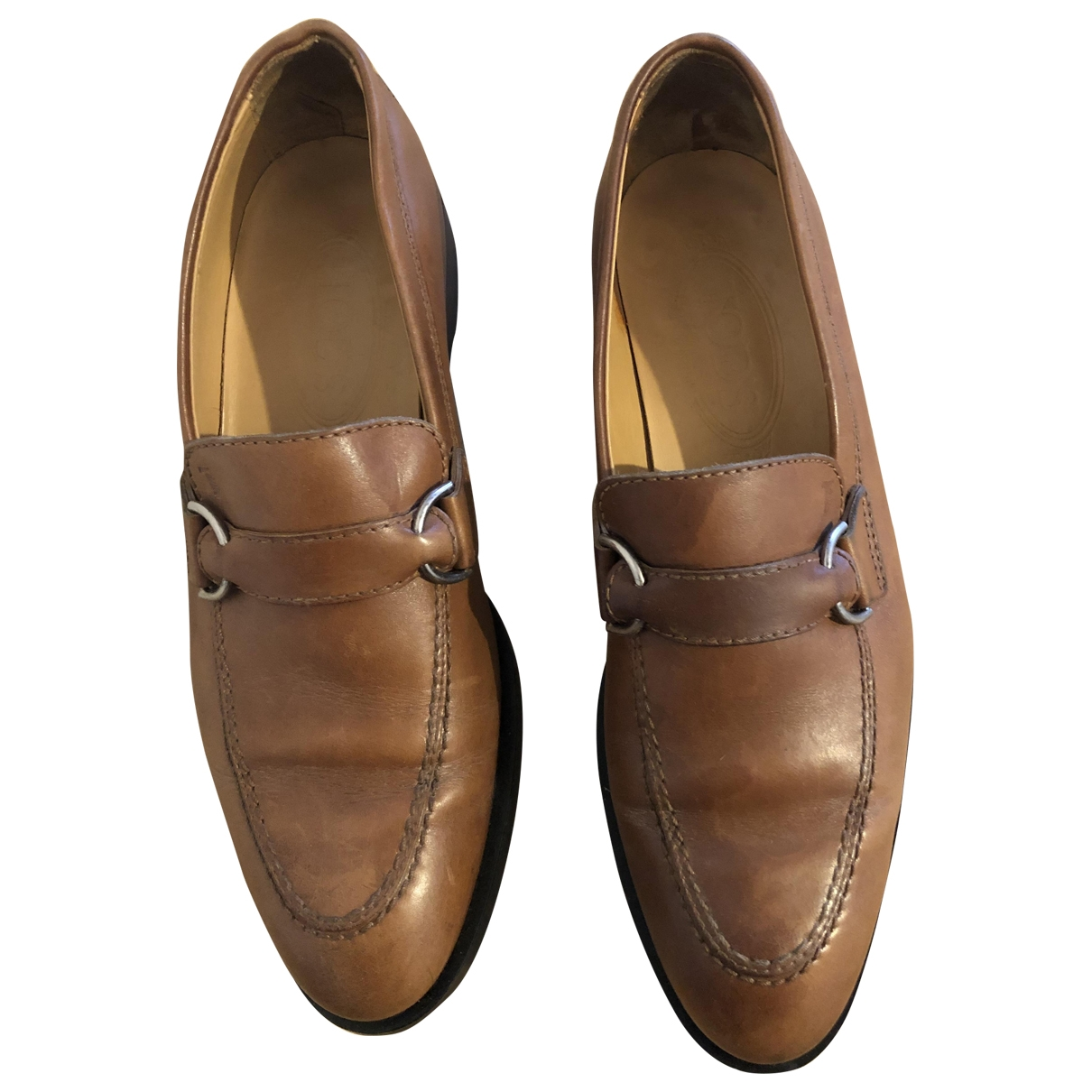 Tod's \N Brown Leather Flats for Women 38 EU