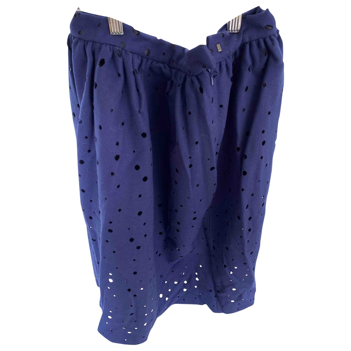 Non Signé / Unsigned \N Blue Cotton skirt for Women 38 FR