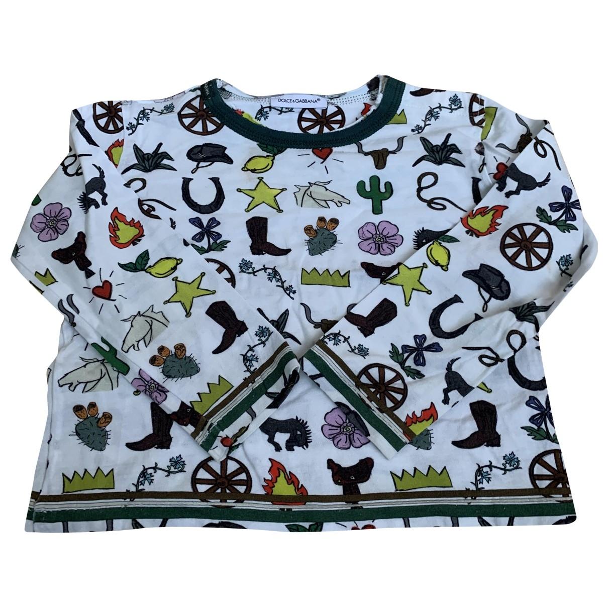 Dolce & Gabbana - Top   pour enfant en coton - multicolore