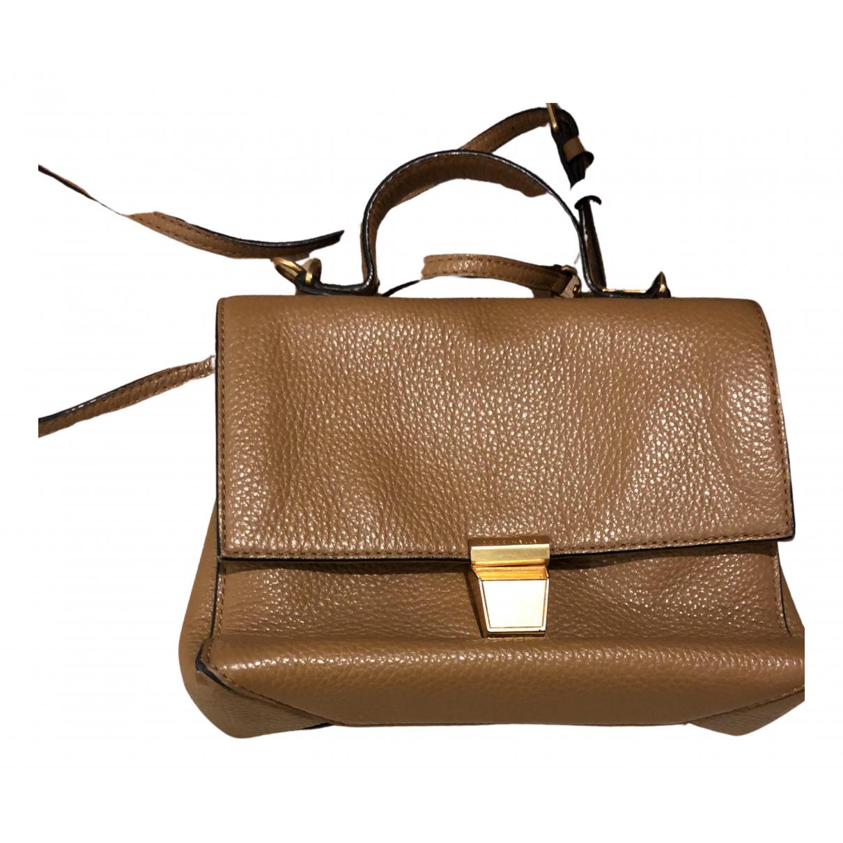 Coccinelle \N Handtasche in  Kamel Leder