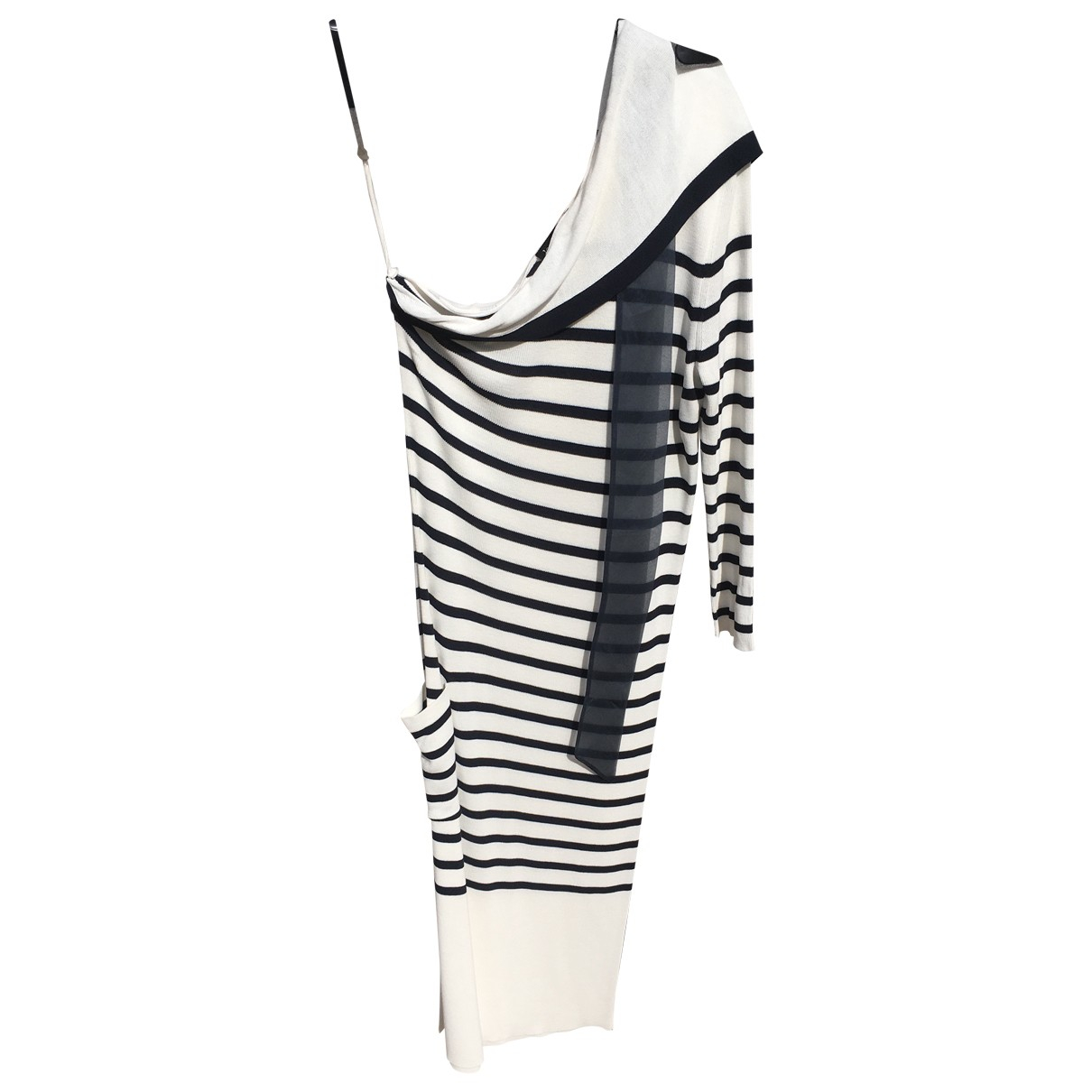 Jean Paul Gaultier \N Kleid in  Weiss Viskose