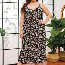 Vestido slip con estampado floral