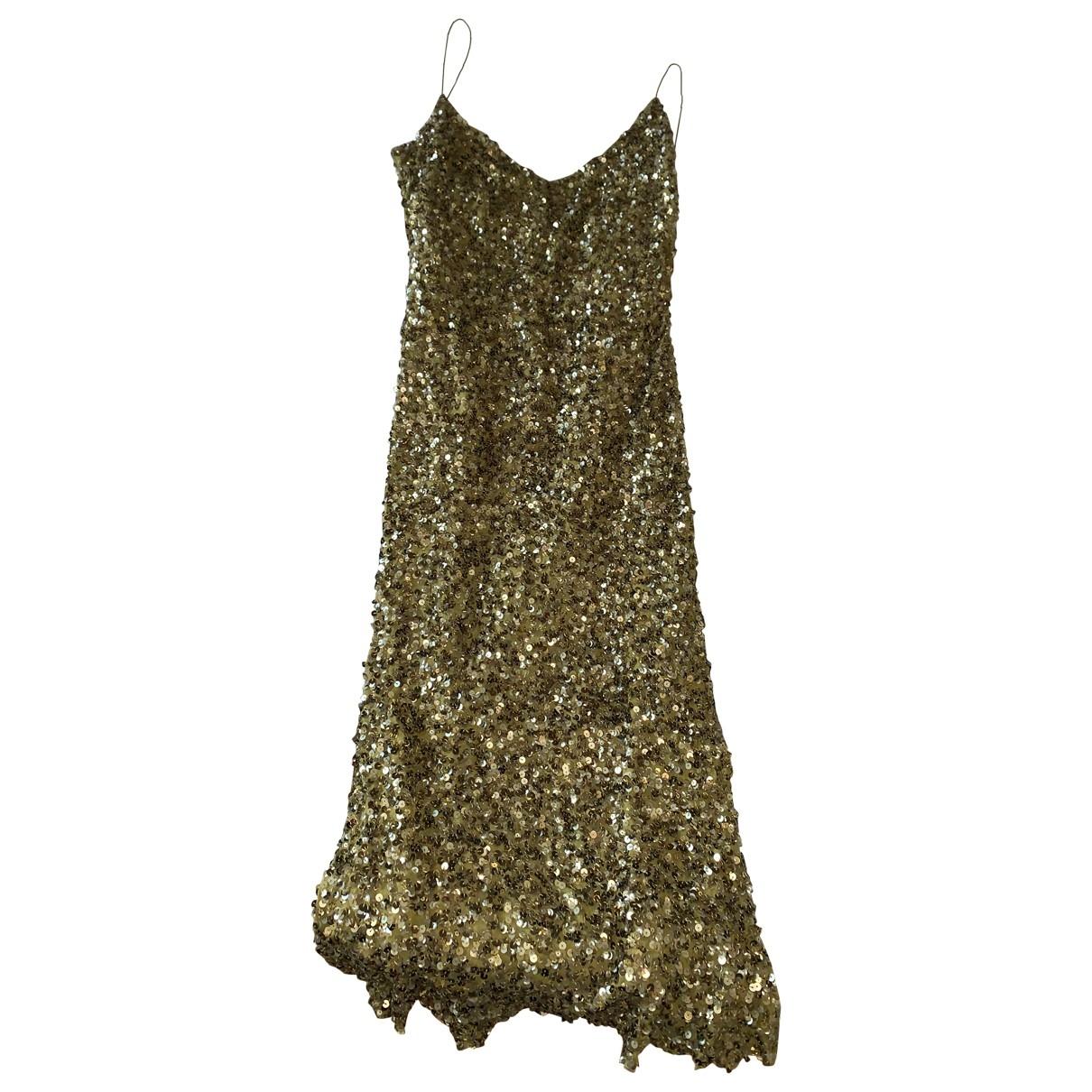 - Robe   pour femme en soie - vert