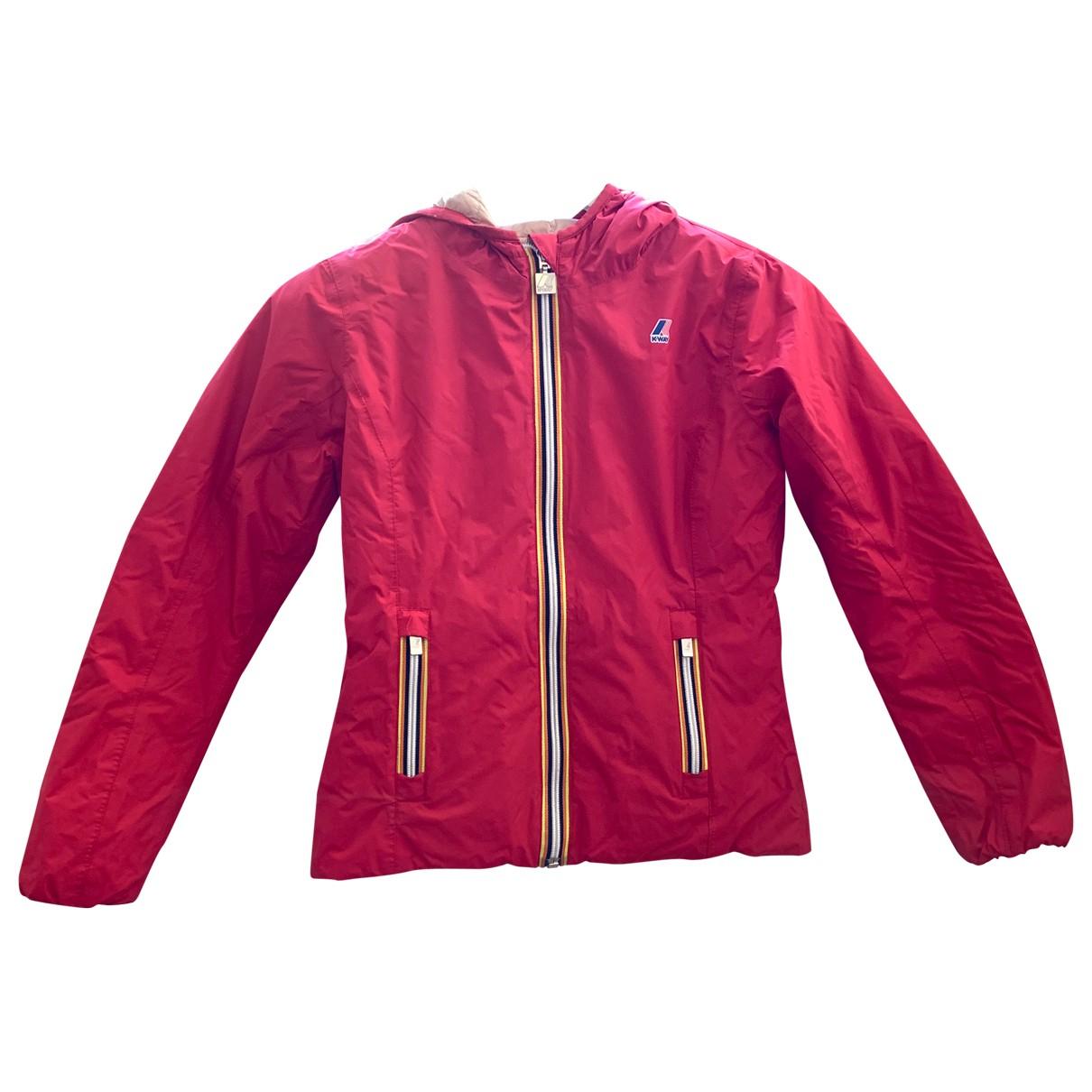 K-way \N Jacke, Maentel in  Rot Polyester