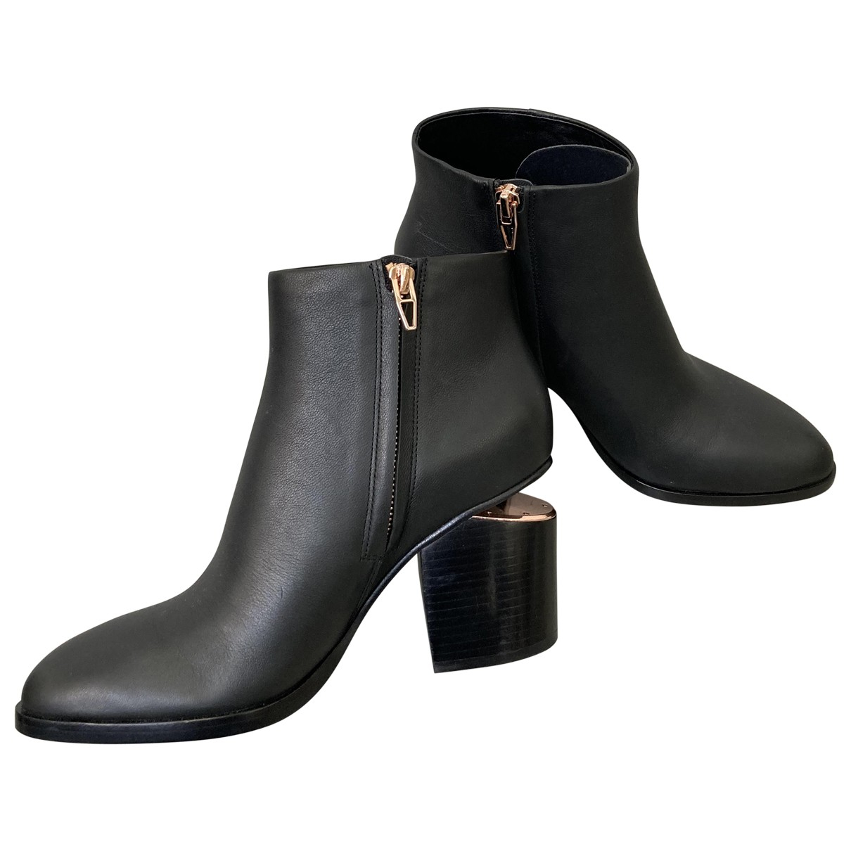 Alexander Wang \N Black Leather Ankle boots for Women 37 EU