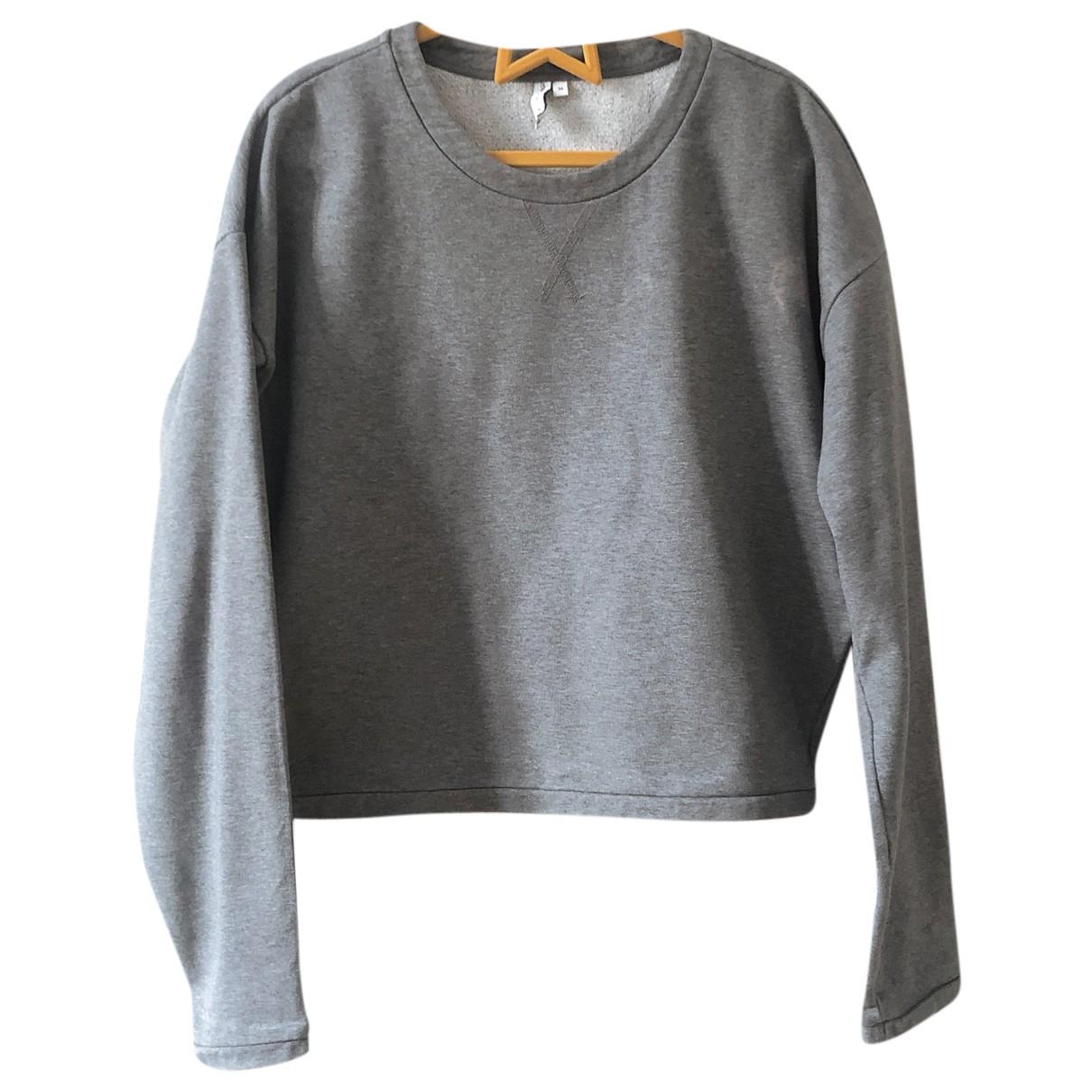 & Other Stories - Pull   pour femme en coton - gris