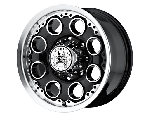 American Outlaw Patrol 18X8.5  6x114.3  10mm Black Machined Face