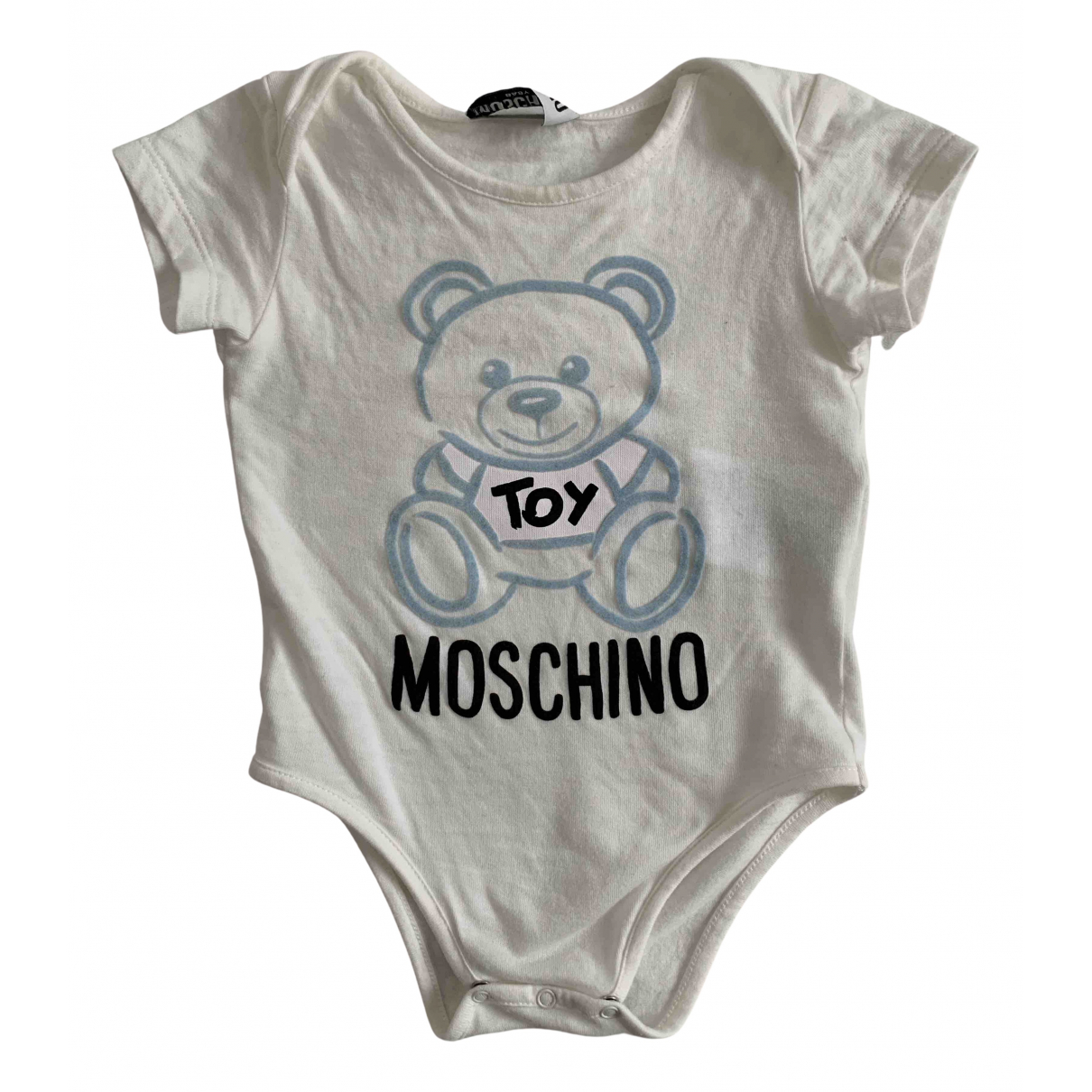 Moschino - Top   pour enfant en coton - blanc