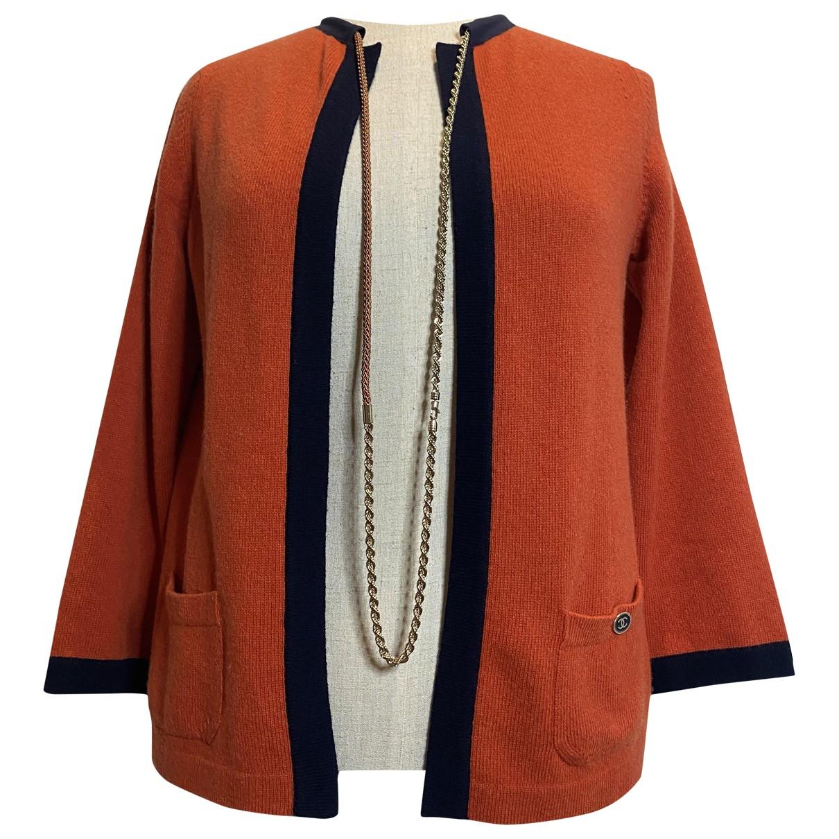 Chanel - Veste   pour femme en cachemire - rouge