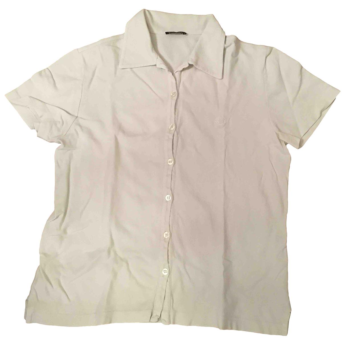 Fred Perry - Top   pour femme en coton - blanc