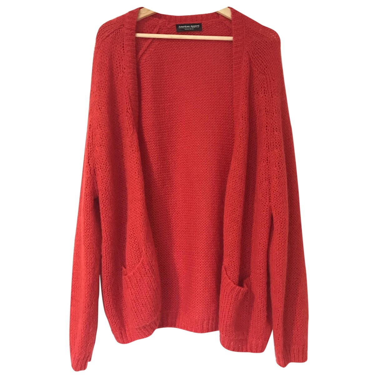 American Apparel \N Pullover in  Rot Synthetik
