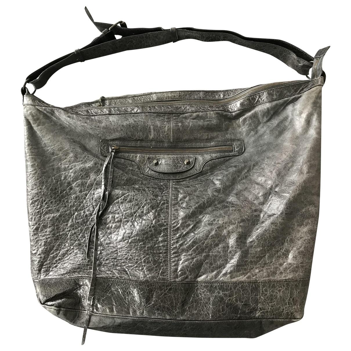 Balenciaga \N Anthracite Leather handbag for Women \N