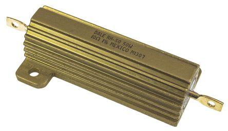 Vishay RH050 Series Aluminium Housed Axial Wire Wound Panel Mount Resistor, 10Ω ±1% 50W