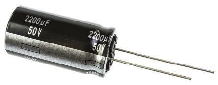 Panasonic 2200μF Electrolytic Capacitor 50V dc, Through Hole - ECA1HHG222 (5)