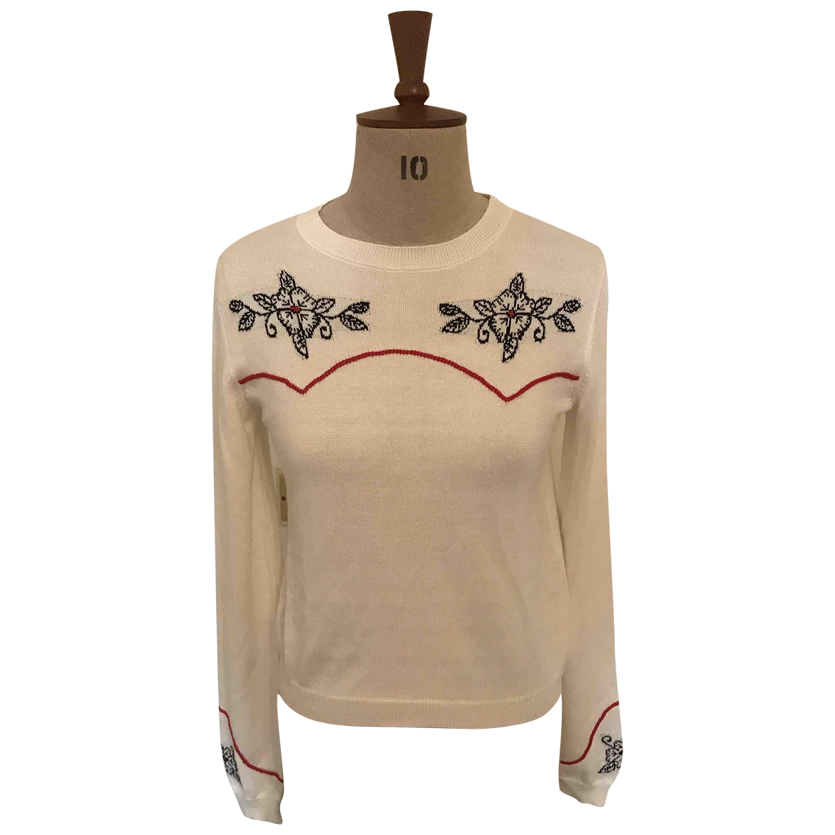 Alanui \N Pullover in  Weiss Seide