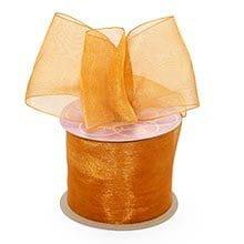 Butterscotch Shimmer Sheer Organza ribbon - 2-1/2 X 25yd - by Paper Mart
