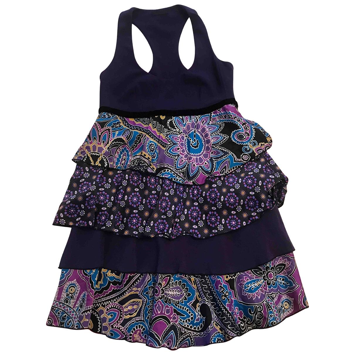 Pinko \N Kleid in  Lila Baumwolle