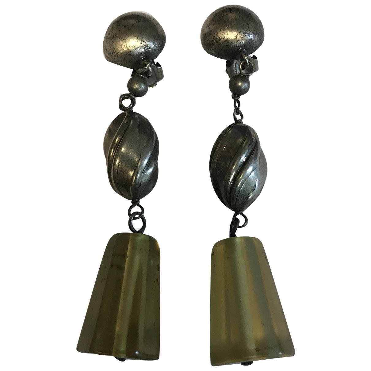 Giorgio Armani - Boucles d'oreilles   pour femme en metal - vert